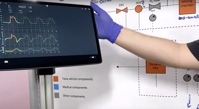Tesla Shows 'Car Parts-Based' Ventilator Prototype For Coronavirus Pandemic