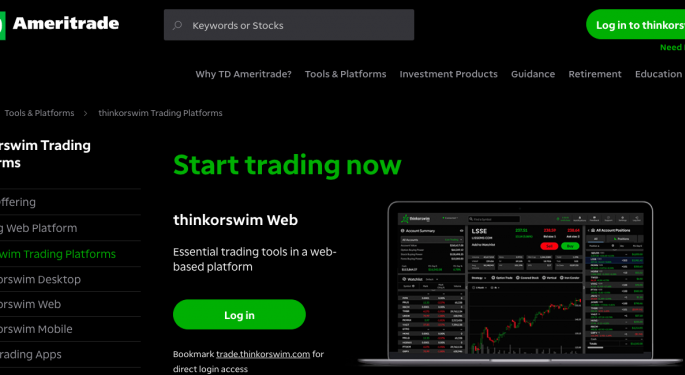In Wake Of Record New Accounts, TD Ameritrade Launches Thinkorswim For Web