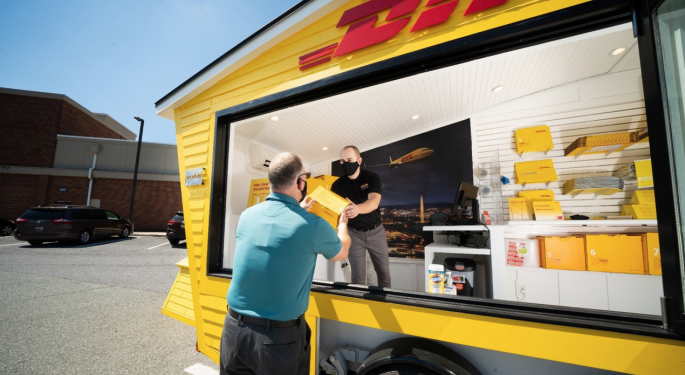 DHL Tests 'Pop-Up' Store Concept