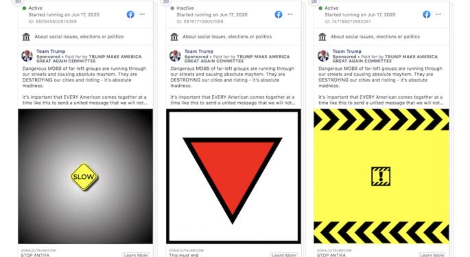 Facebook Removes Trump Campaign Ads Containing Symbols Reminiscent Of The Nazi Era