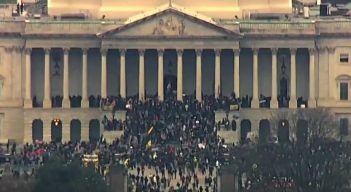 Gun, Security Stocks Surge As Protestors Storm US Capitol