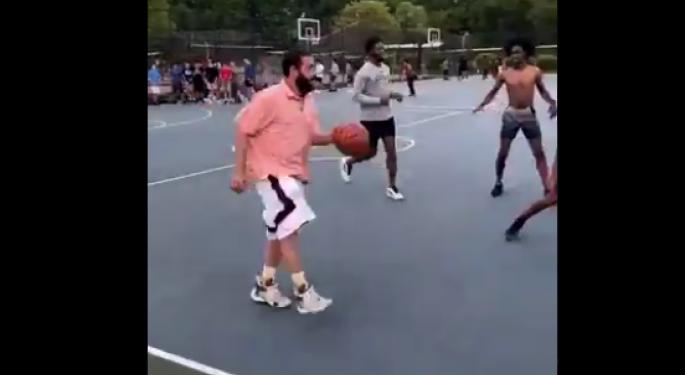 Adam Sandler Goes Viral Again Thanks To Some Pickup Basketball