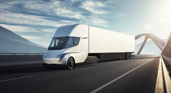 Tesla's Electric Semi Spotted Delivering Cars During End-Of-Quarter Rush