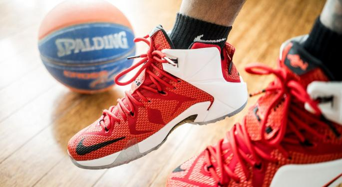 Why Nike's Stock Is Trading Higher Today