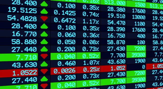 Mid-Morning Market Update: Markets Mostly Lower; GE To Acquire Thermo Fisher Assets For $1.06B