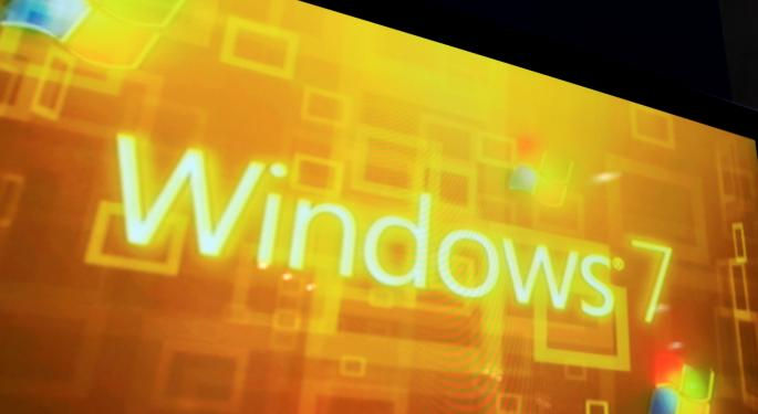 Microsoft's Windows 7 Acquires 70% of Business PC Market