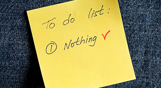 Remember, Do Nothing, Absolutely Nothing Until...