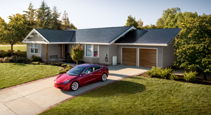 Tesla's Stock Closes At New Record High