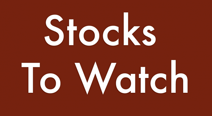 5 Stocks To Watch For October 13, 2016