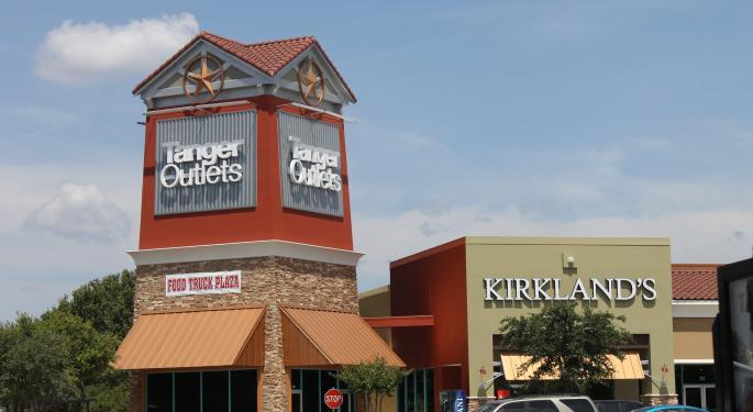Goldman Sachs Sees Trouble Ahead For Tanger Factory Outlet Centers