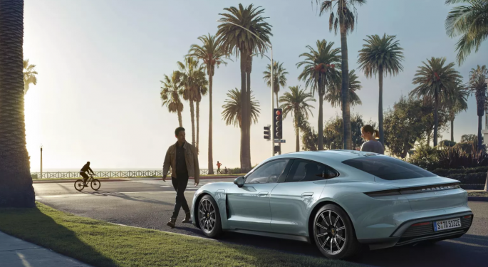 Porsche Debuts The Taycan 4S, Its New 'Entry Level' Electric Car