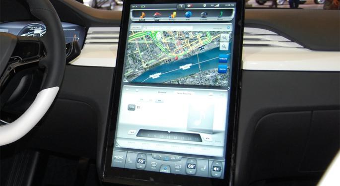 Tesla's Model X Dashboard Looks Like a Giant iPad