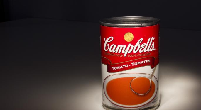 Why Campbell Soup's Stock Is Trading Higher Today
