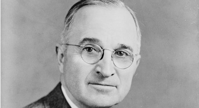 This Day In Market History: Truman Makes First Televised Presidential Address