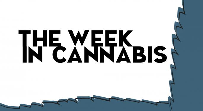The Week In Cannabis: Stocks Underperform Broader Market, Bad News For Zynerba, Organigram And More