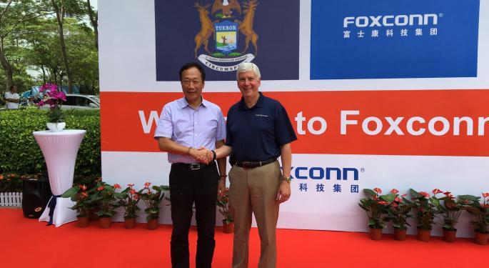 Report: iPhone Maker Foxconn Plans Multibillion-Dollar Michigan Facility