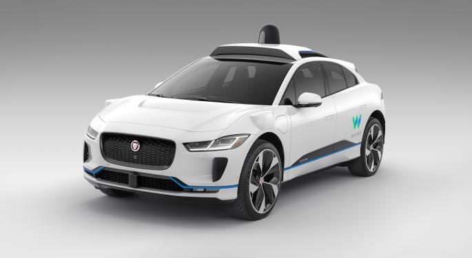 Electric Jaguar iPace Spotted Testing Waymo Equipment In San Francisco
