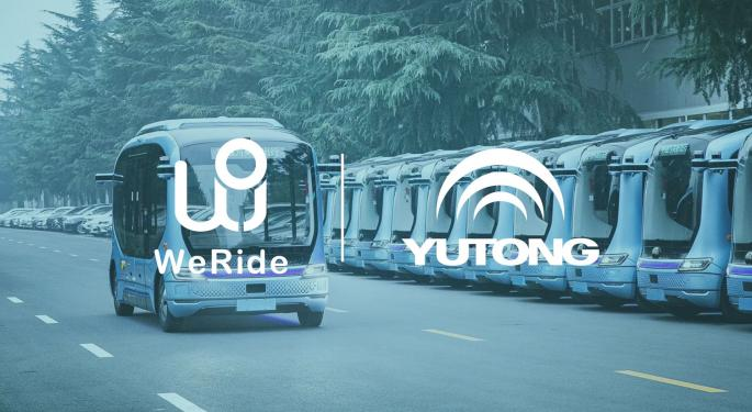 Chinese Autonomous Driving Startup WeRide Raises $200 Million From Yutong Group